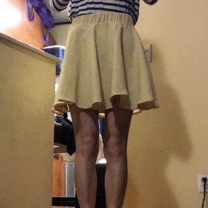 Dresses & Skirts - Yellow flare mini skirt